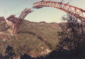 The New River Gorge Bridge was dedicated on October 22, 1977.